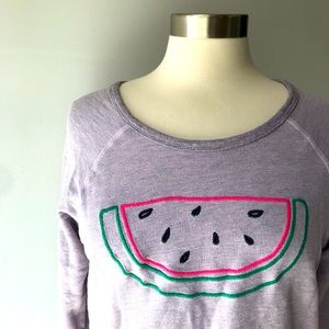 Sundry Lilac Pink Watermelon Top Shirt MED    *C11